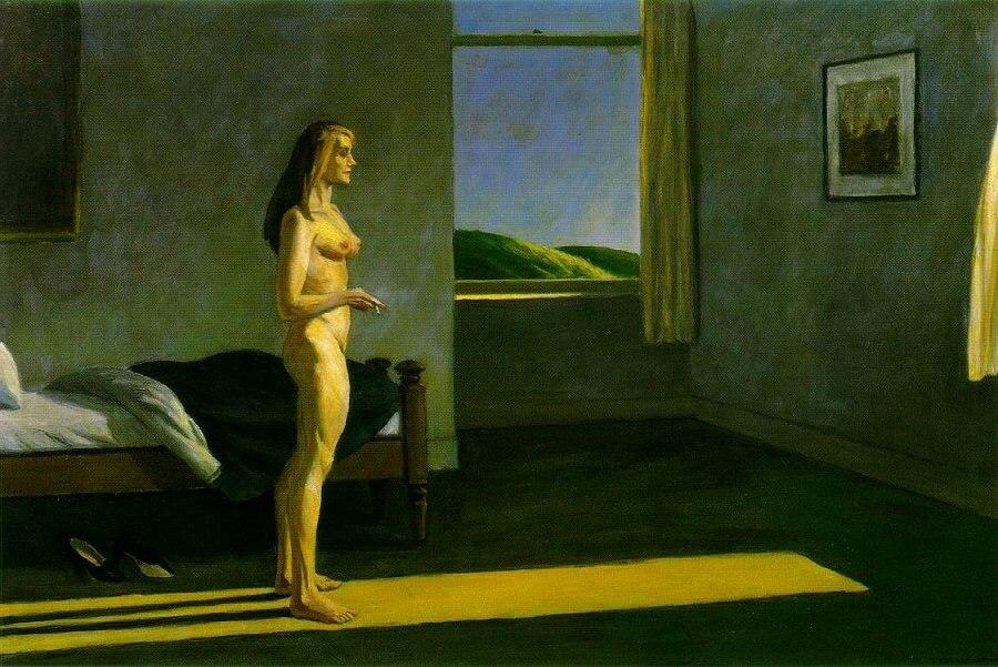 a woman in the sun 1961 by edward hopper