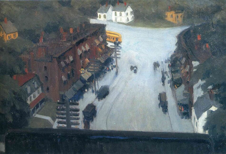 American Village, 1912 by Edward Hopper