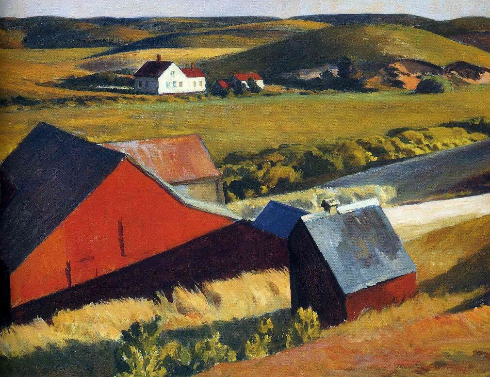 Cobb's Barn and Distant Houses, 1931 by Edward Hopper