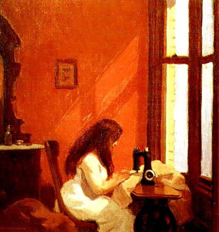 Girl at Sewing Machine, 1921 by Edward Hopper