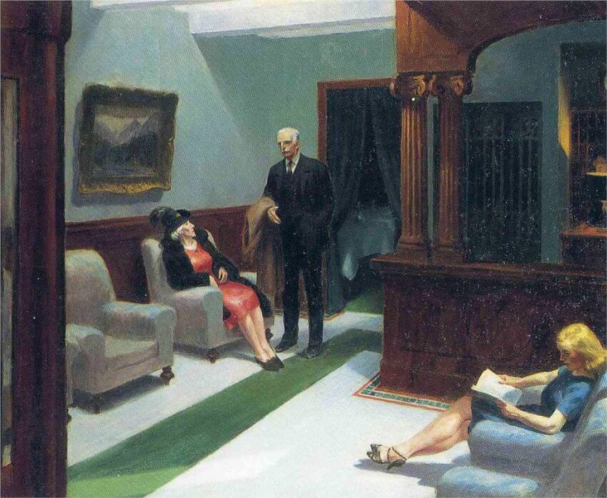 Hotel Lobby, 1943 by Edward Hopper