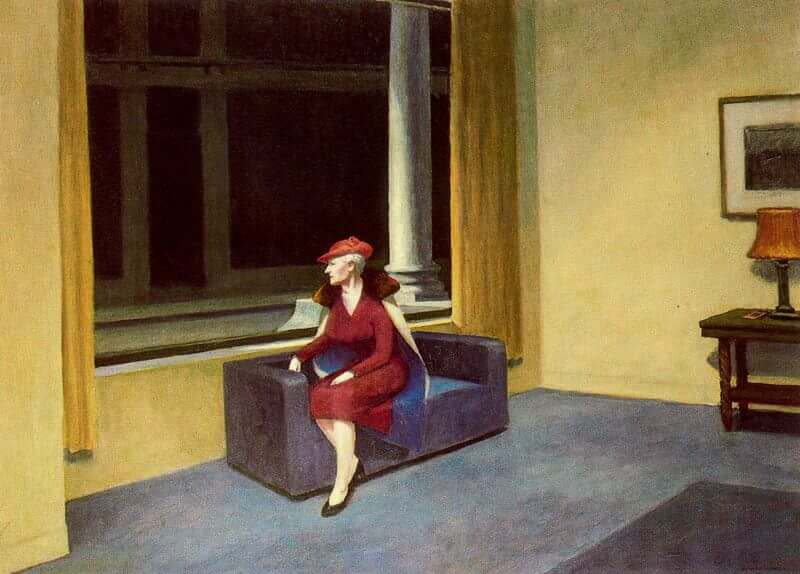 Edward Hopper In A Hotel Room