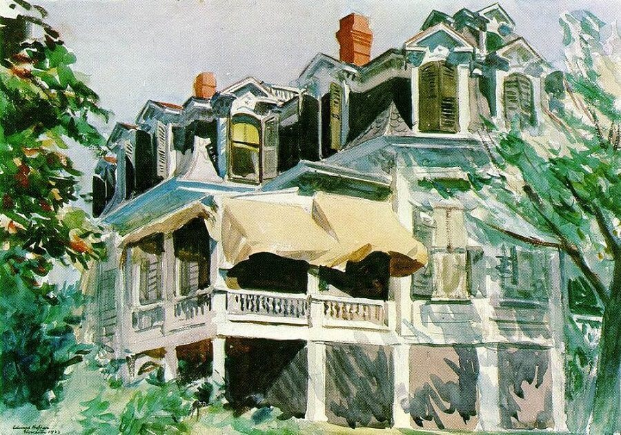 Mansard Roof, 1923 by Edward Hopper