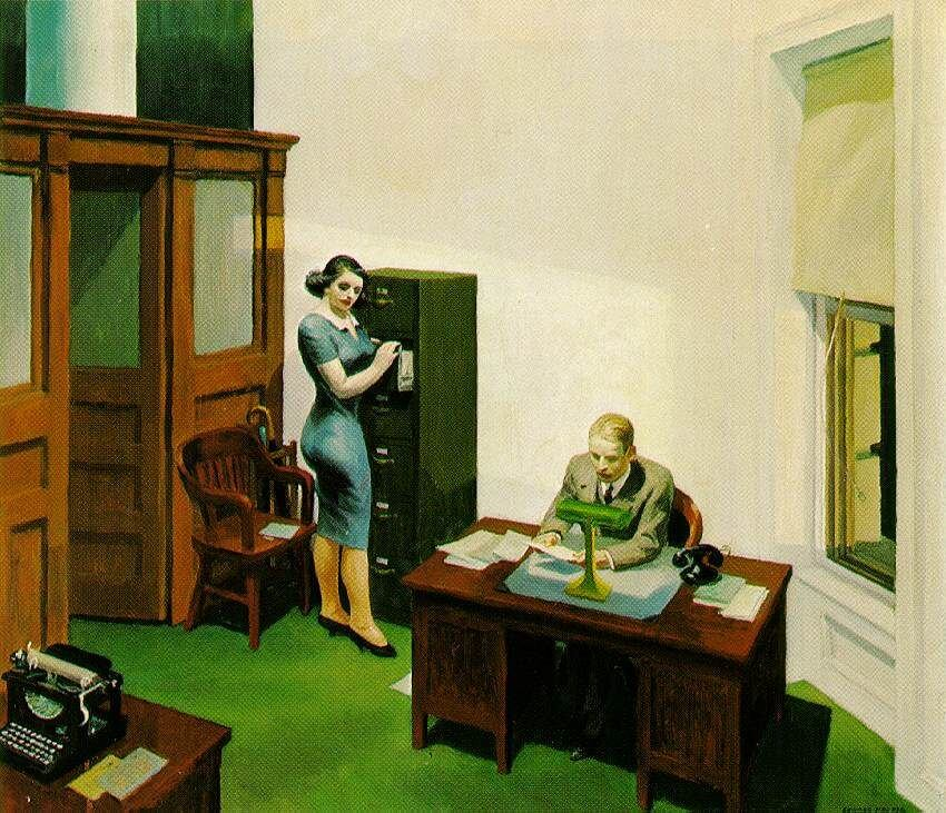 Office at Night, 1940 by Edward Hopper