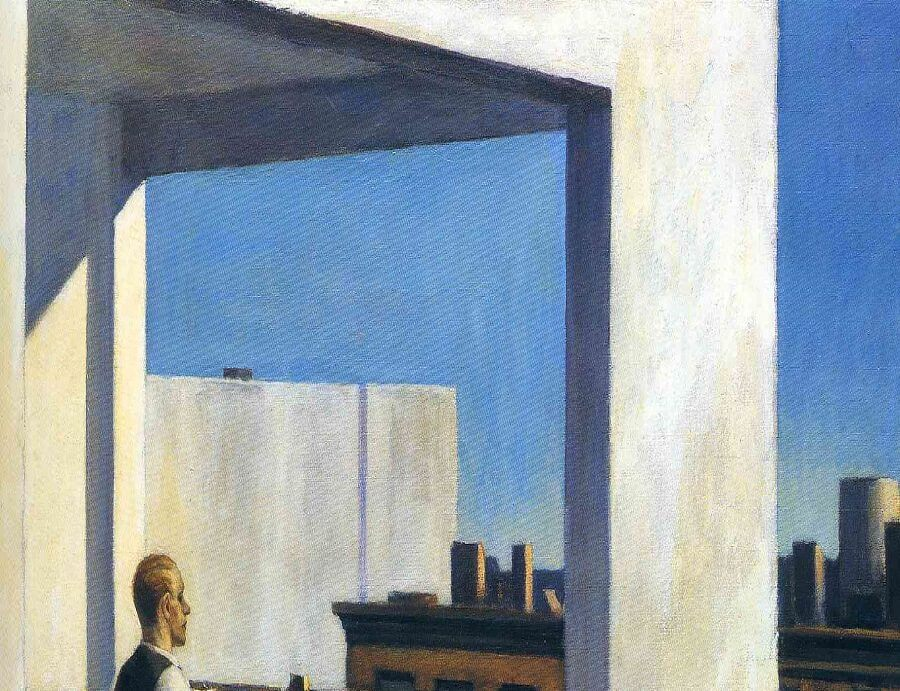 Office In A Small City 1953 By Edward Hopper