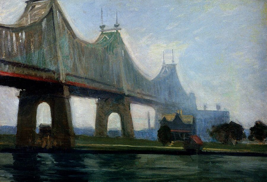 Queensborough Bridge, 1913 by Edward Hopper