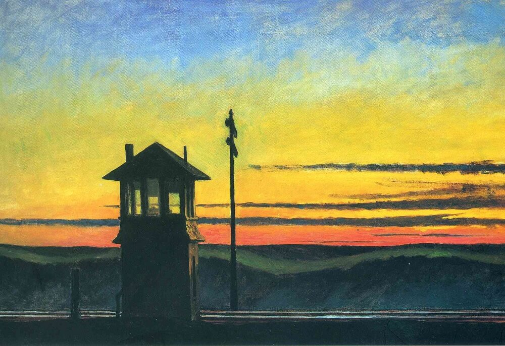 Railroad Sunset, 1929 by Edward Hopper