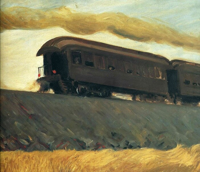 Railroad Train, 1908 by Edward Hopper