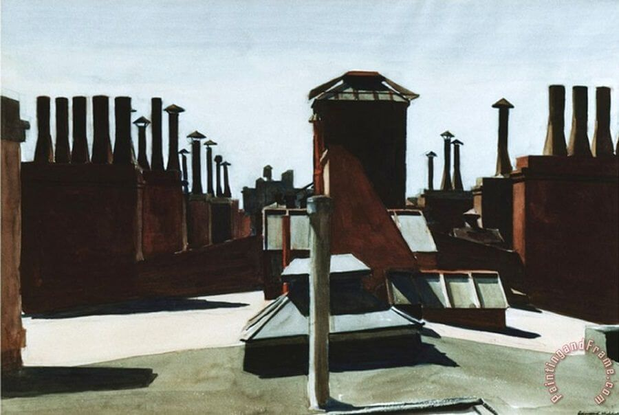 Roofs of Washington Square, 1926 by Edward Hopper