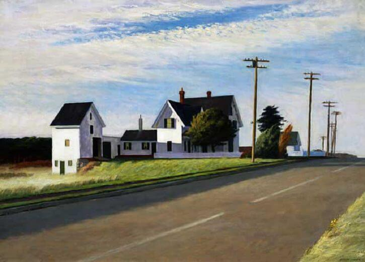 Route 6, Eastham, 1941 by Edward Hopper