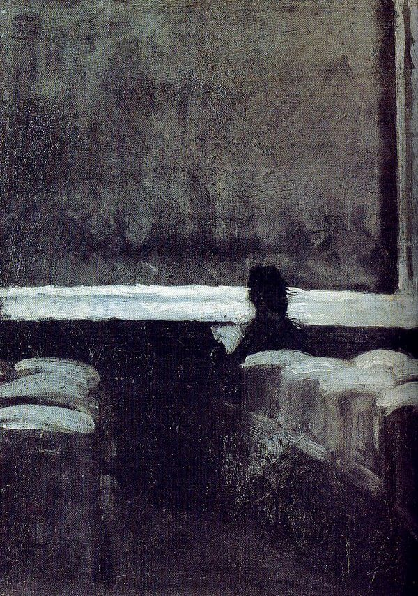 Solitary Figure in a Theater, 1903 by Edward Hopper