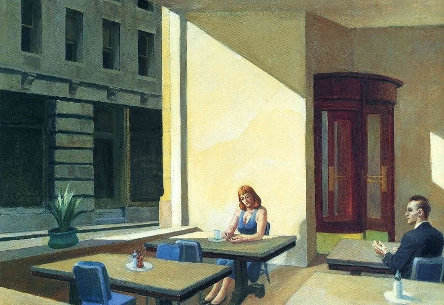 Sunlight in a Cafeteria, 1958 by Edward Hopper