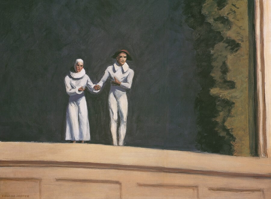 Two Comedians, 1965 by Edward Hopper