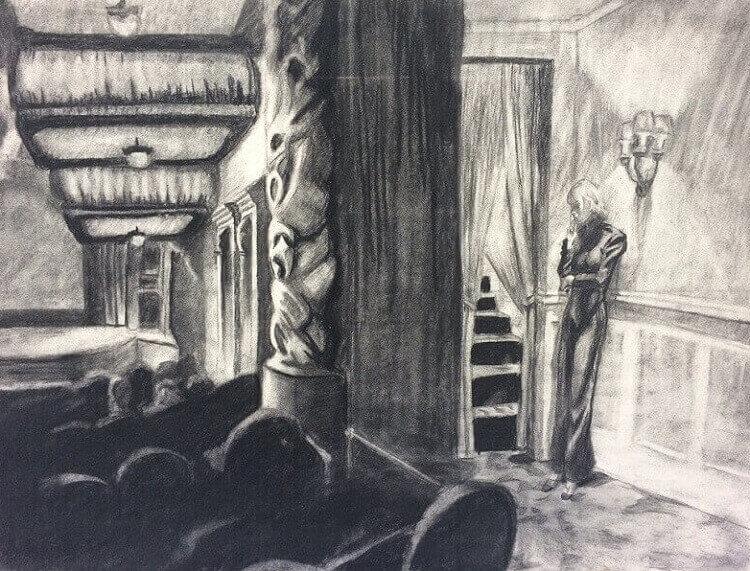 Ashcan Giclee Art Print or Canvas New York Movie 1939 NEW Edward Hopper